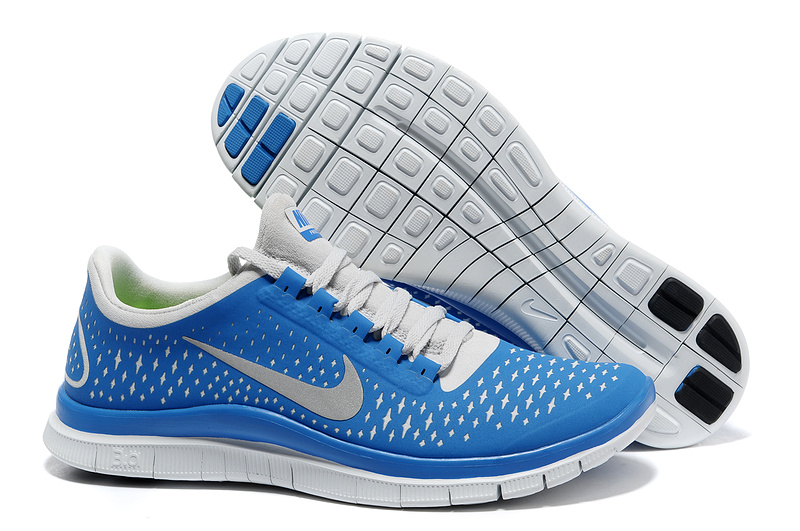 Nike Free 3.0 V4 Running Shoes Blue White