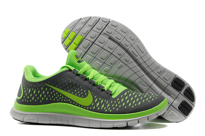 Nike Free 3.0 V4 Running Shoes Grey Green