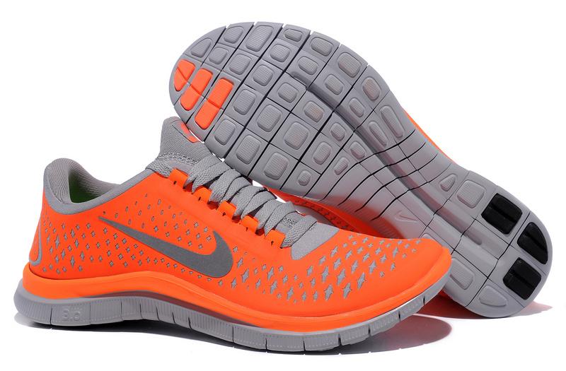 Women Nike Free Run 3.0 V4 Orange Grey