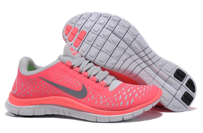 Women Nike Free Run 3.0 V4 Pink Grey