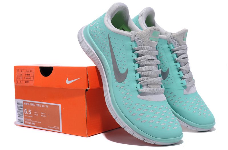 Women Nike Free Run 3.0 V4 Tiffany Blue Grey