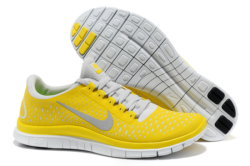 Nike Free 3.0 V4 Running Shoes Yellow White