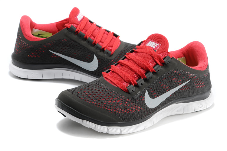 Nike Free Run 3.0 V5 Black Red White Shoes