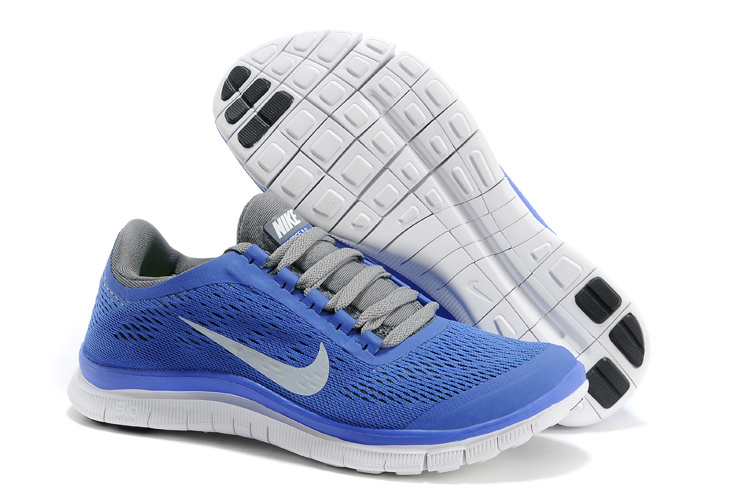 Nike Free Run 3.0 V5 Blue Grey White Shoes