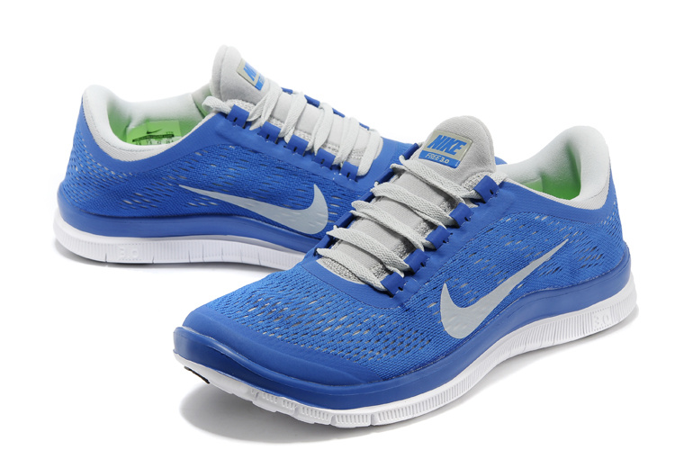 Nike Free Run 3.0 V5 Blue White Shoes