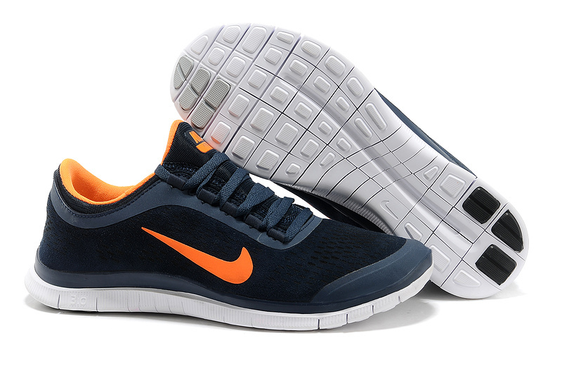 Nike Free Run 3.0 V5 Engrave Black Orange White Shoes