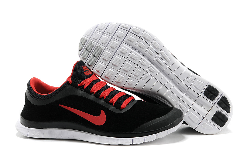 Nike Free Run 3.0 V5 Engrave Black Red White Shoes