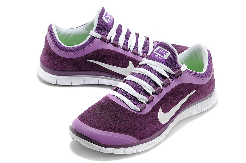 Nike Free Run 3.0 V5 Engrave Purple White Shoes