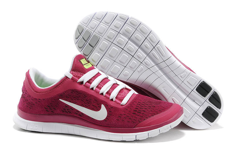 Nike Free Run 3.0 V5 Engrave Wine Red White Shoes