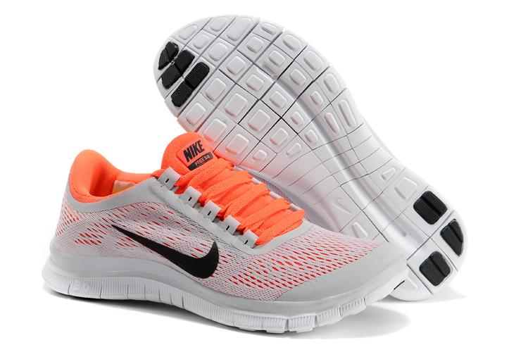 Nike Free Run 3.0 V5 Grey Orange Black Running Shoes