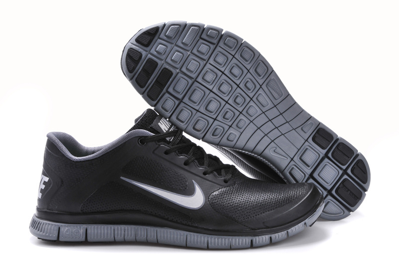 Nike Free Run 4.0 Leather All Black Shoes