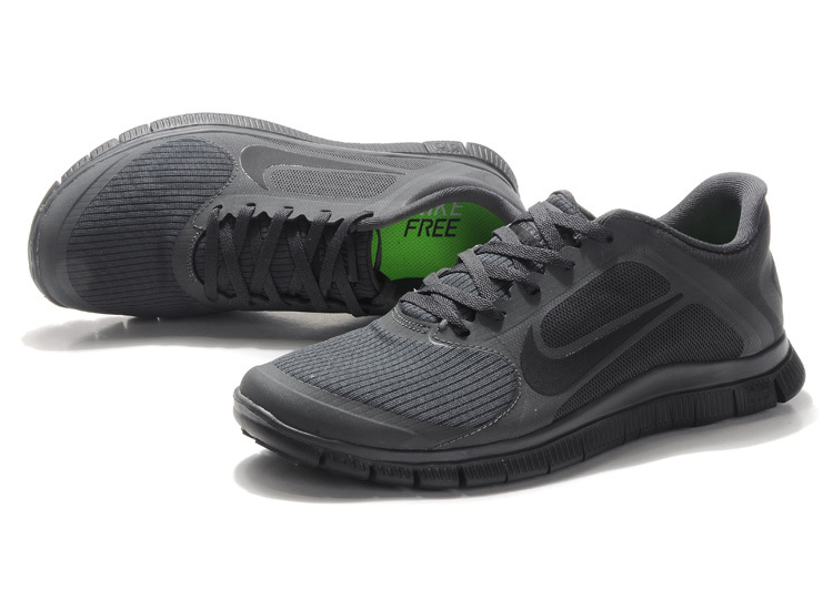 Nike Free 4.0 V2 All Black Running Shoes
