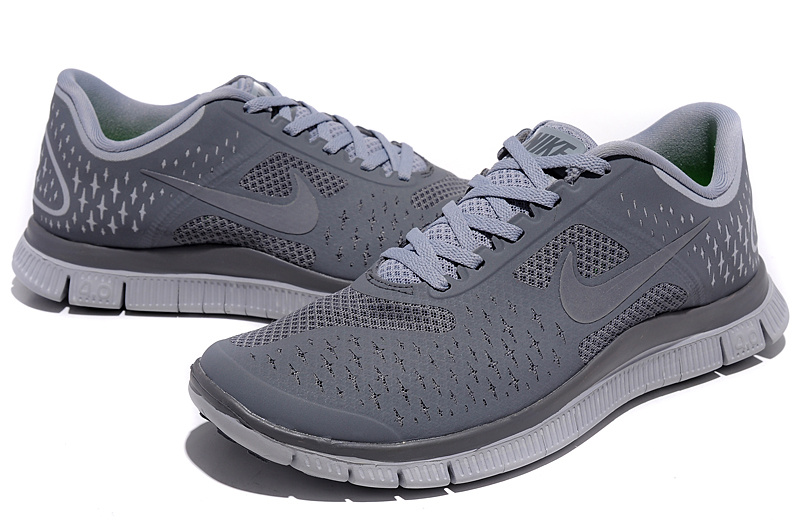 Nike Free 4.0 V2 All Grey Running Shoes