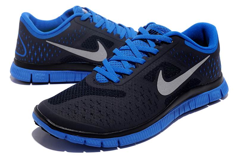 Nike Free 4.0 V2 Black Blue Running Shoes