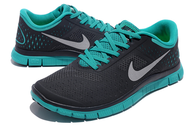 Nike Free 4.0 V2 Black Green Running Shoes