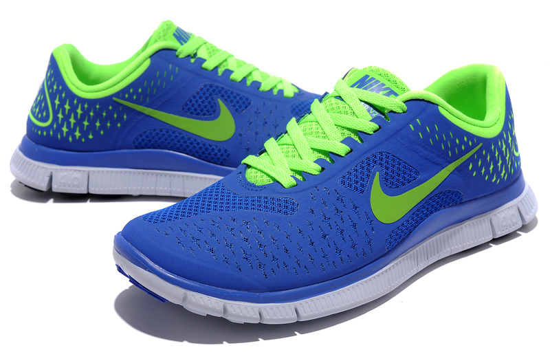 Nike Free 4.0 V2 Blue Green Running Shoes