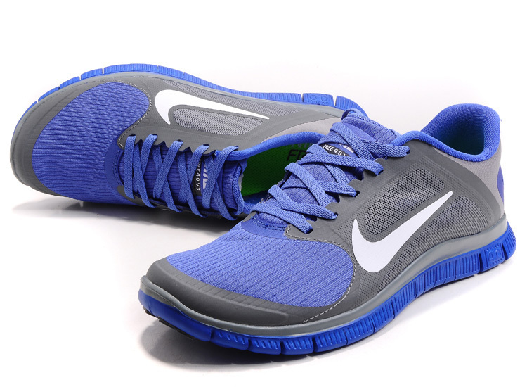 Nike Free 4.0 V2 Blue Grey Running Shoes