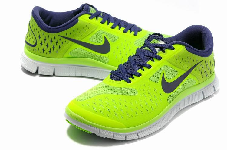 Nike Free Run 4.0 V2 Green Black White Shoes