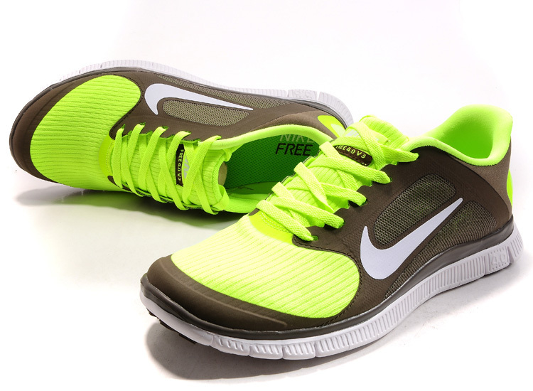 Nike Free 4.0 V2 Green Brown Running Shoes