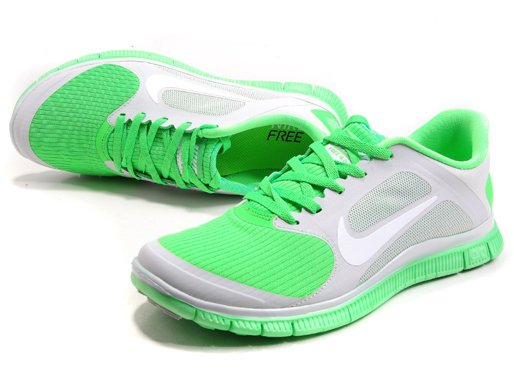 Nike Free 4.0 V2 Green Grey Running Shoes