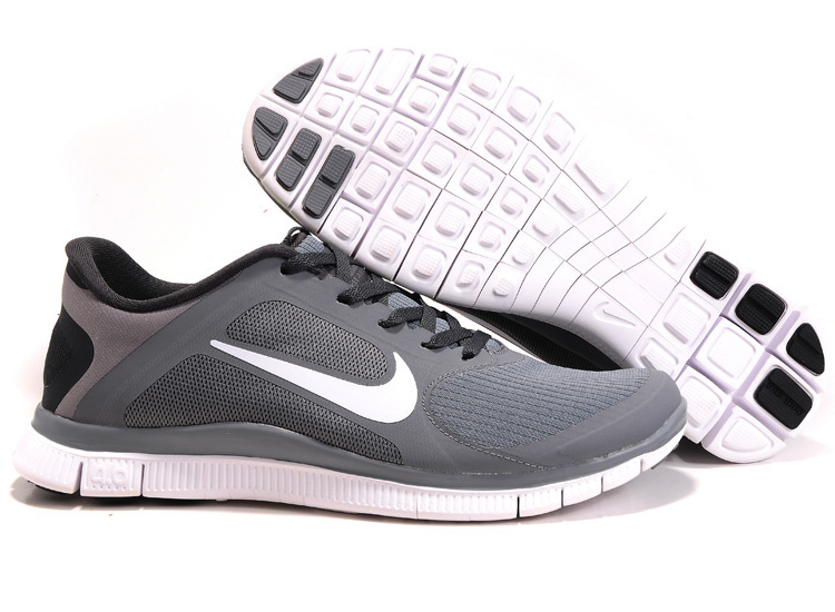 Nike Free 4.0 V2 Grey Black White Running Shoes