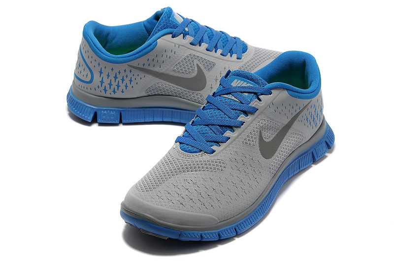 Nike Free Run 4.0 V2 Grey Blue Shoes