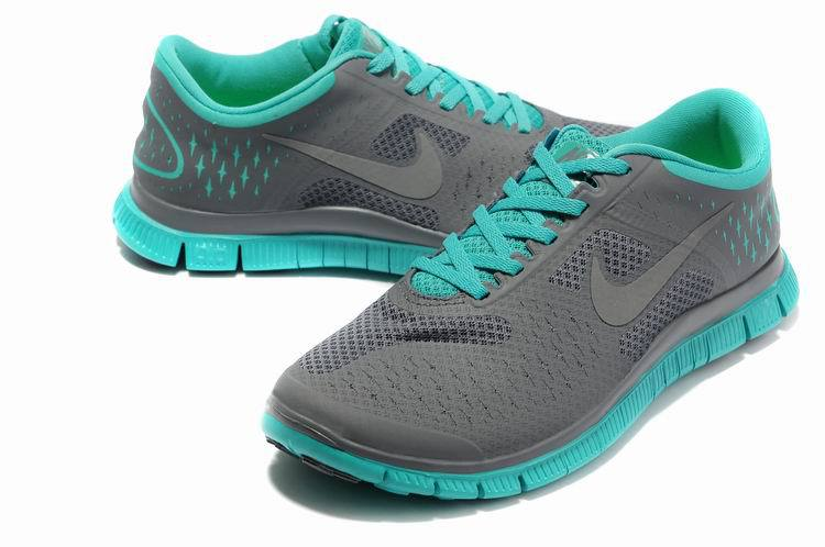 Nike Free Run 4.0 V2 Grey Green Shoes