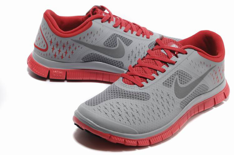 Nike Free Run 4.0 V2 Grey Red Shoes
