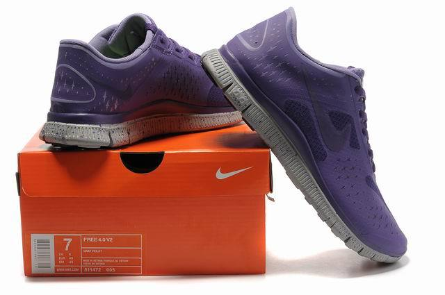 Nike Free Run 4.0 V2 Purple Grey Shoes