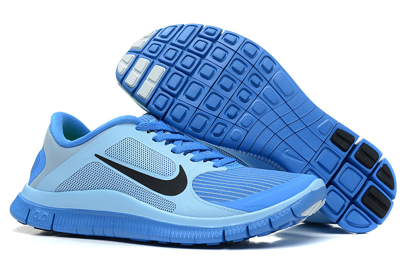Women Nike 4.0 V3 Running Shoes Blue Black