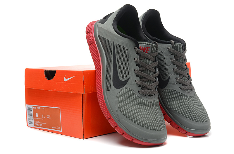 Nike Free Run 4.0 V3 Grey Black Pink Shoes
