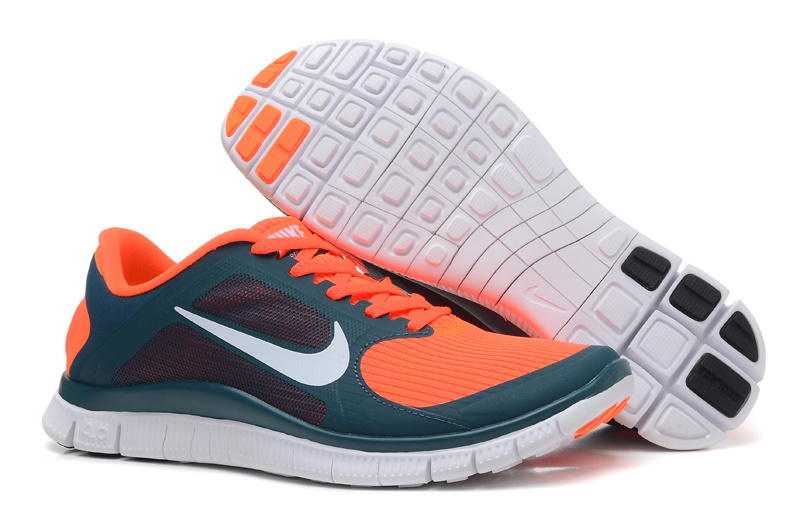 Nike Free Run 4.0 V3 Orange Blue White Shoes