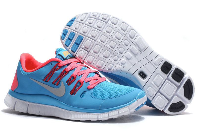 Women Nike Free Run 5.0 2 Baby Blue Pink Shoes
