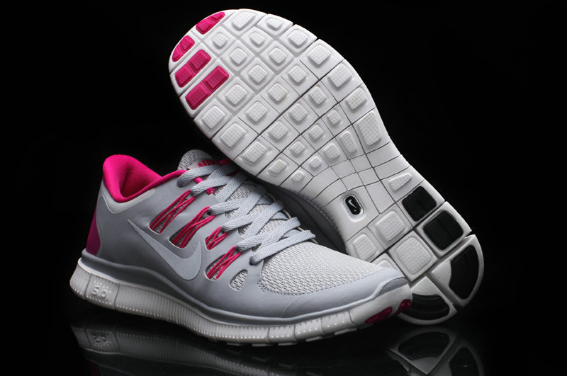 Women Nike Free Run 5.0 2 Grey Pink Shoes