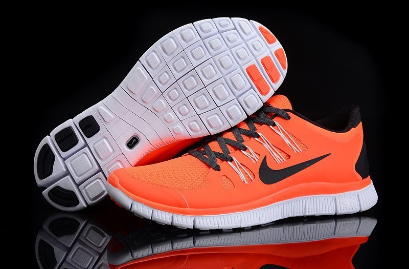 Women Nike Free Run 5.0 2 Orange Black Shoes