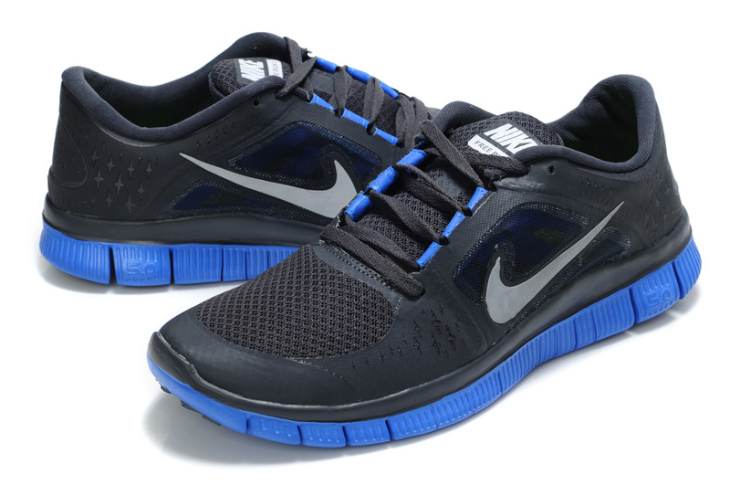 Nike Free Run 5.0 Black Blue Shoes