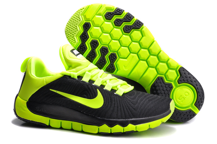 Nike Free Run 5.0 Black Green Shoes