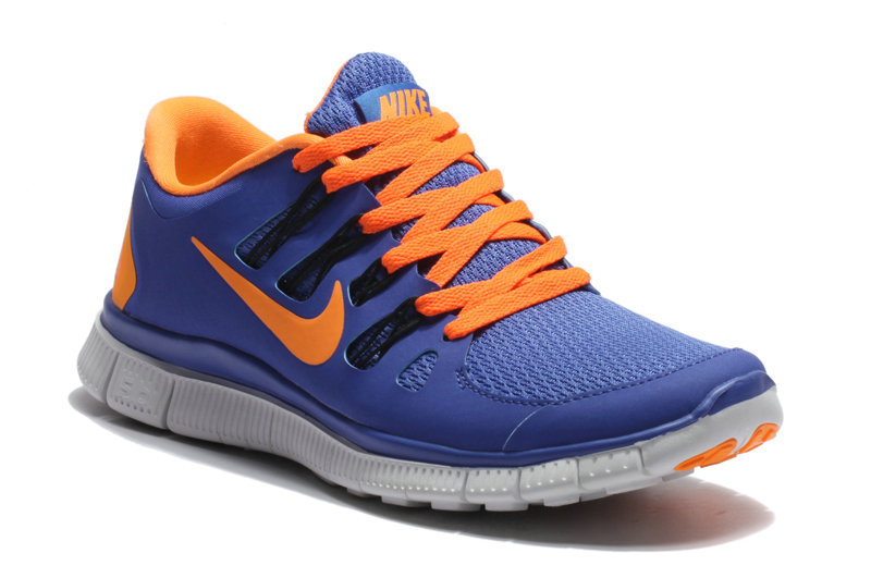 Nike Free Run 5.0 Blue Orange Women Running Shoes