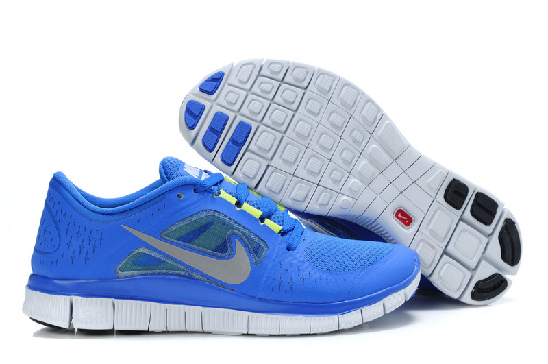 Nike Free Run 5.0 Blue White Shoes