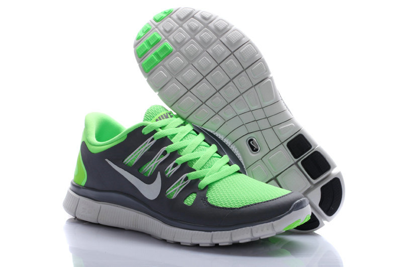 Nike Free Run 5.0 Green Grey Women Running Shoes