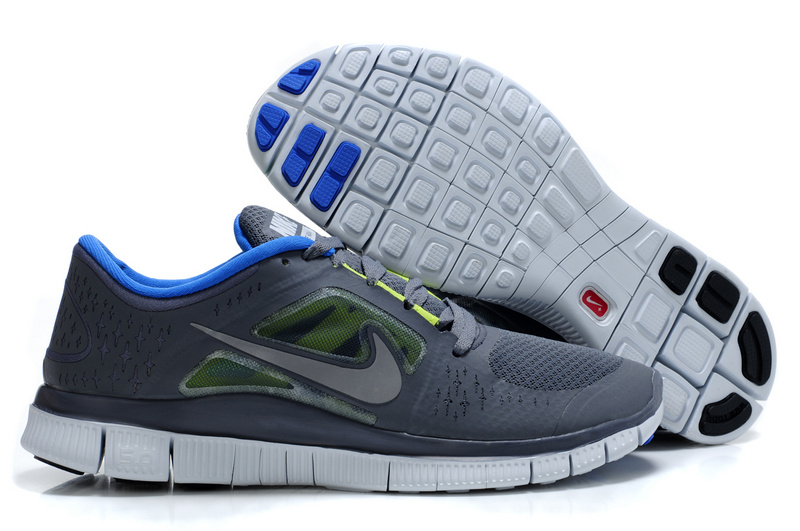 Nike Free Run 5.0 Grey Blue White Shoes