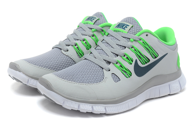Nike Free Run 5.0 Grey Green Shoes