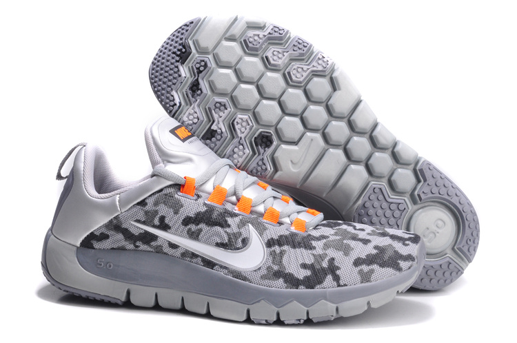 Nike Free Run 5.0 Grey White Orange Shoes