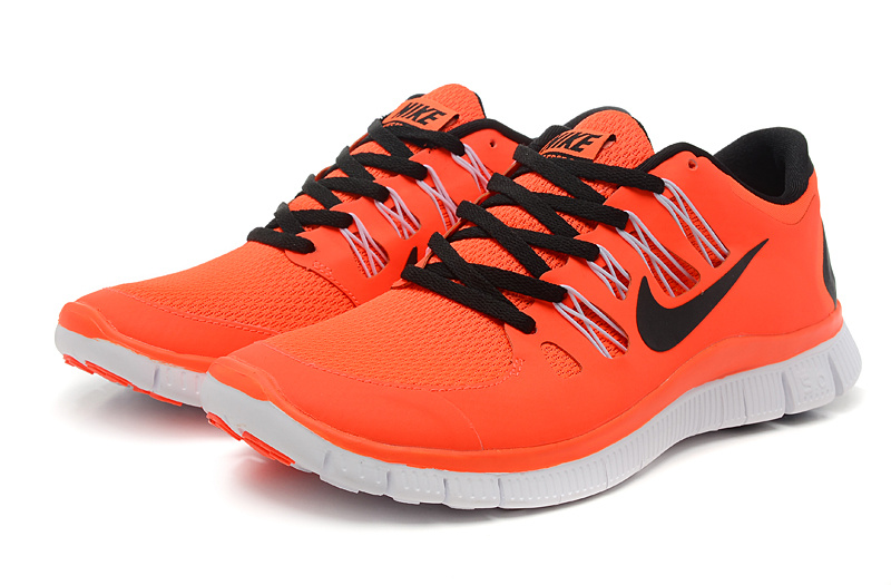 authentic nike free 5 0 running shoes orange black