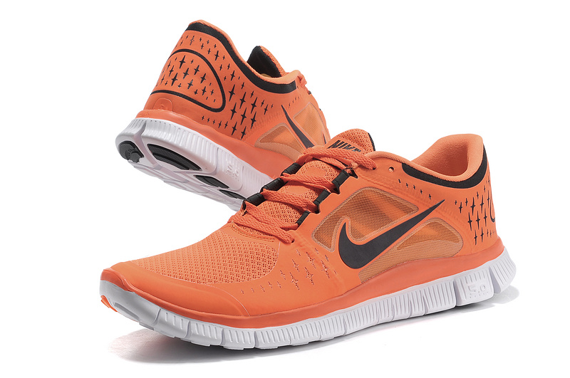 Nike Free Run 5.0 Orange Black White Shoes