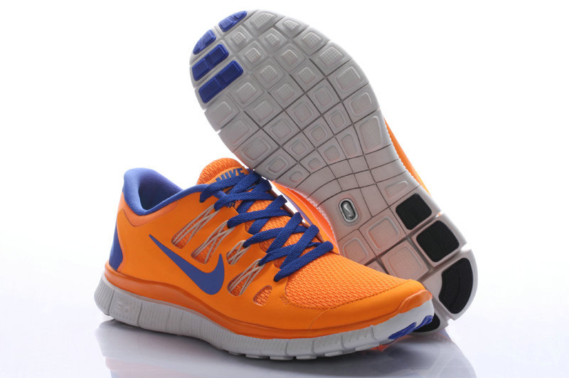 Nike Free Run 5.0 Orange Blue Women Running Shoes