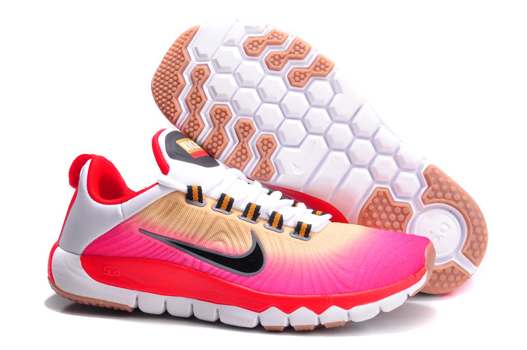 Nike Free Run 5.0 Red Gold White Shoes