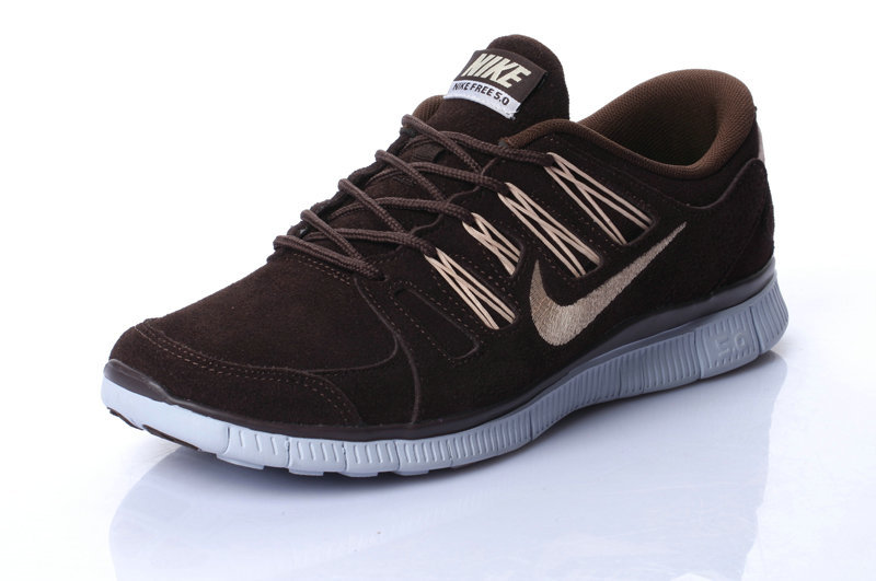 Nike Free Run 5.0 Suede Coffe Gold Running Shoes