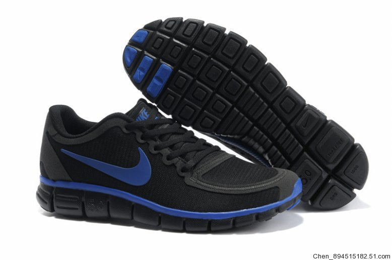 Nike Free Run 5.0 V4 Black Blue Shoes