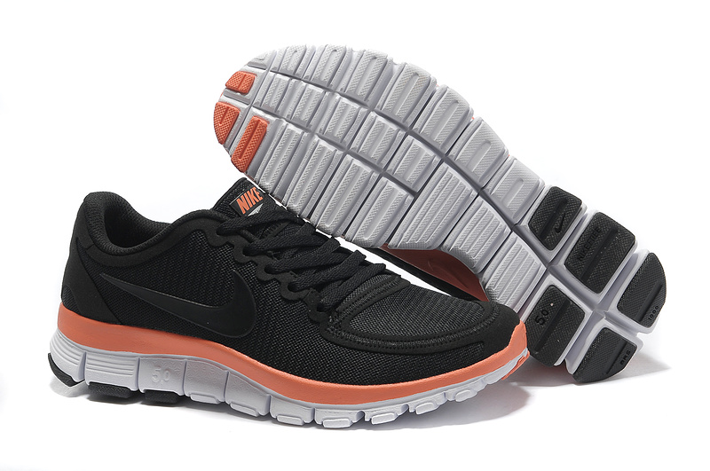 Nike Free Run 5.0 V4 Black Orange White Shoes